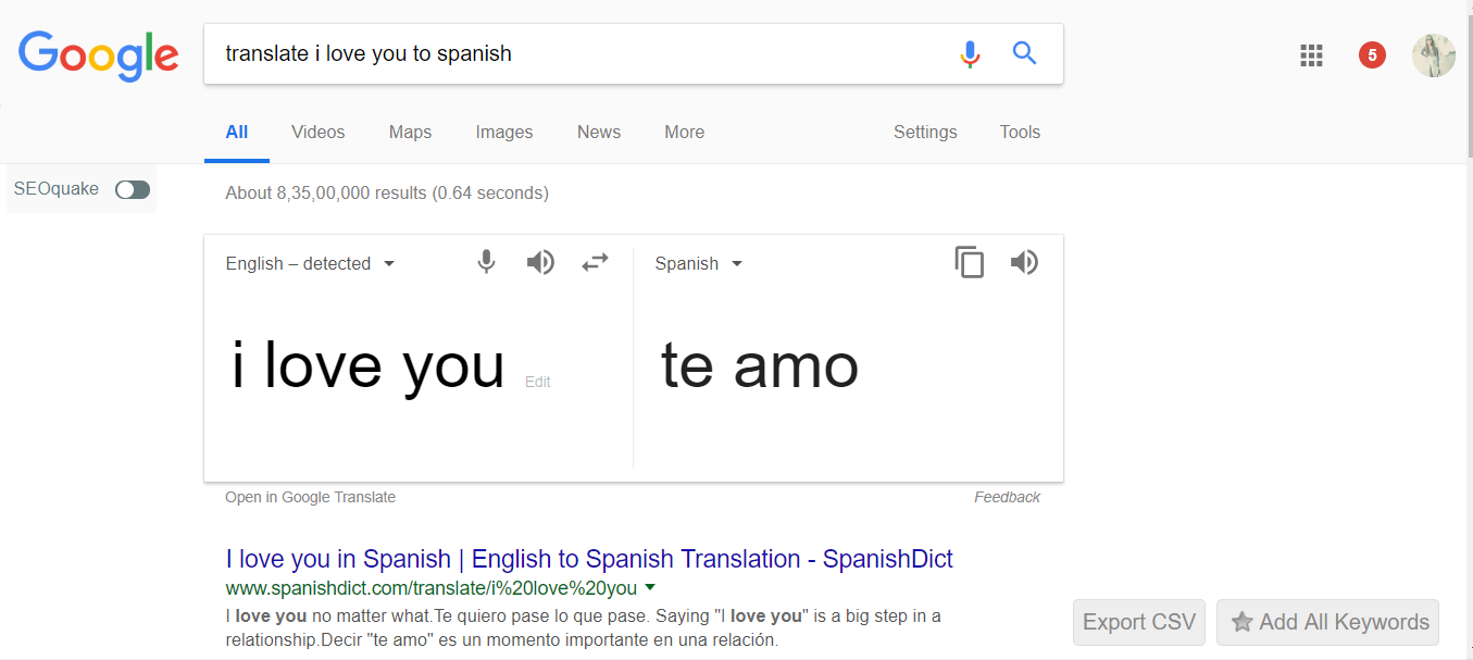 Translate in Any Language