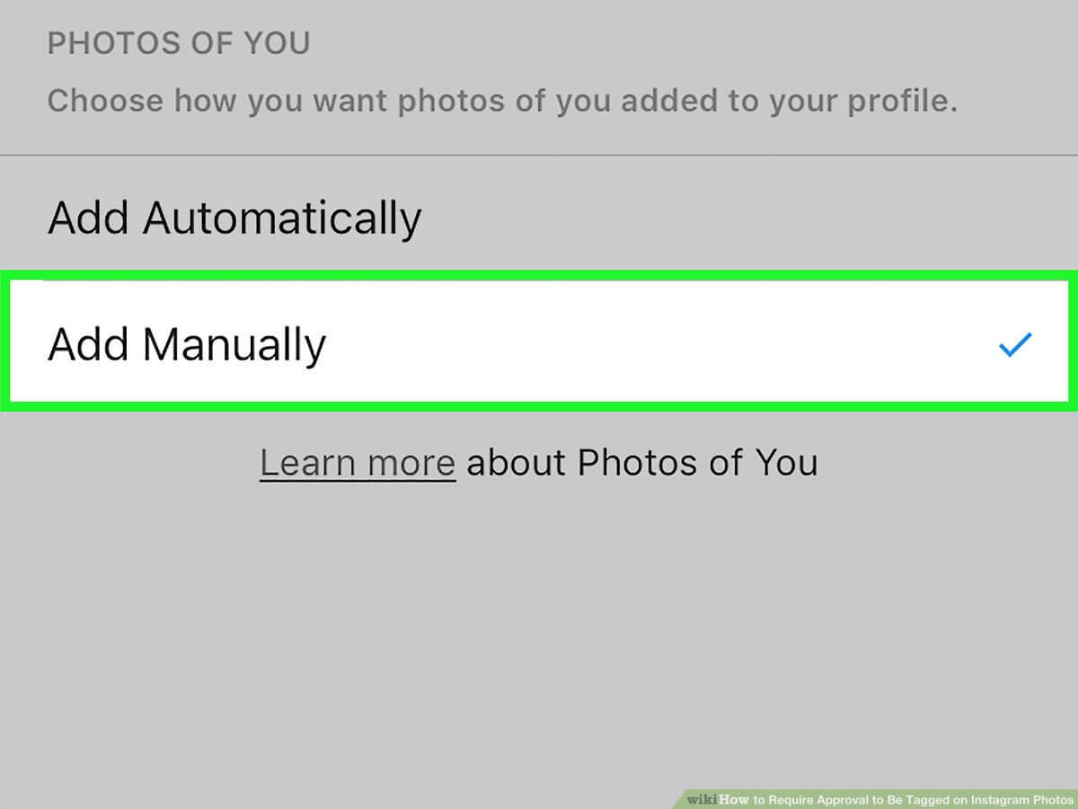 Approved photo tags before the content show on your profile