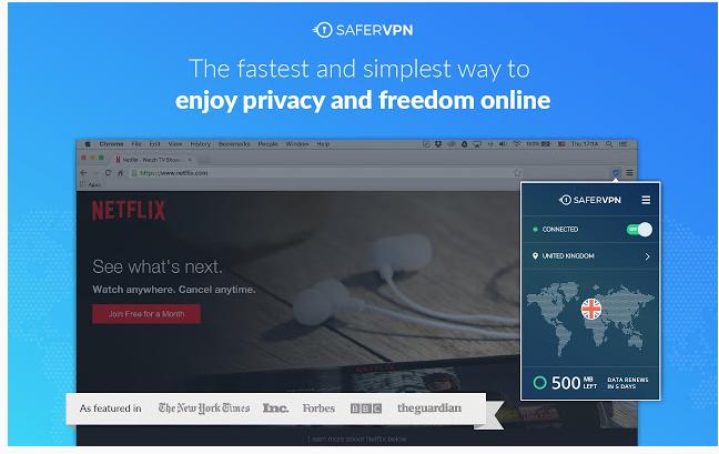 SaferVPN – FREE VPN