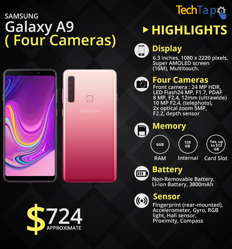 6a25f899e23 First SmartPhone With 4 Cameras Samsung Galaxy A9( All Details)