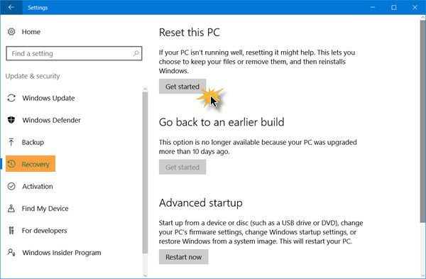 HOW TO REINSTALL WINDOWS 10 WITH SYSTEM RECOVERY