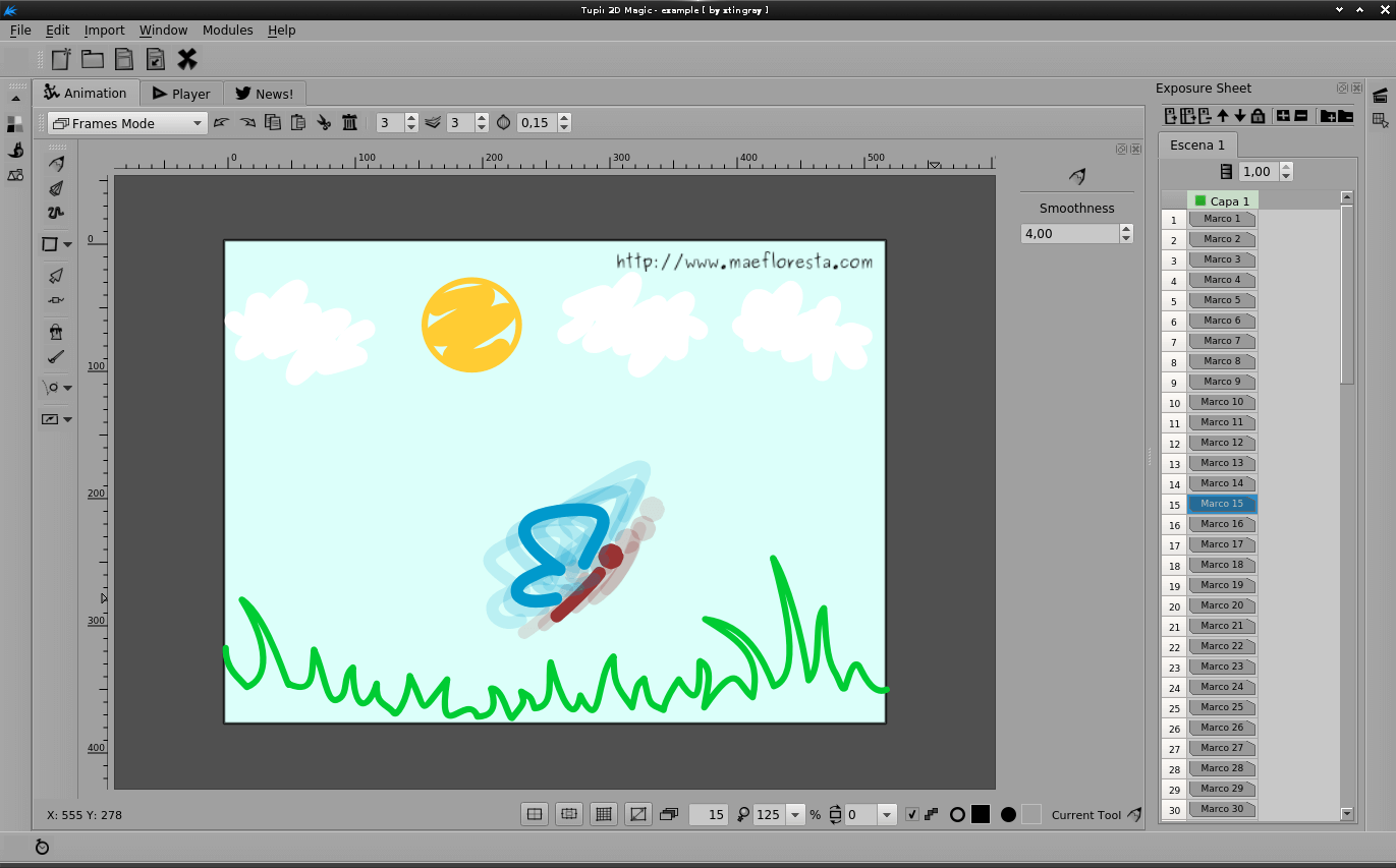 Maefloresta 2D animation software