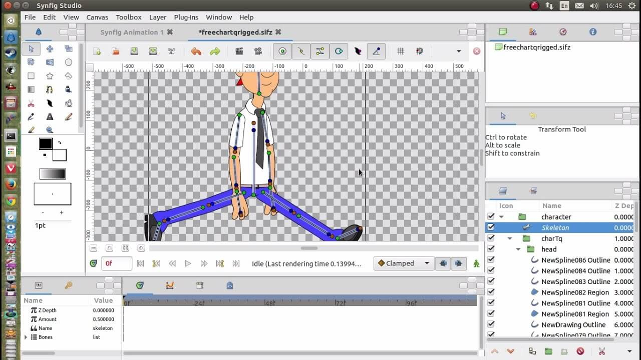Synfig 2D animation software
