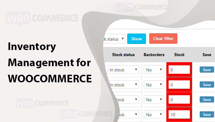 Inventory Management for WOOCOMMERCE